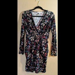 BCBGeneration Black Floral Dress